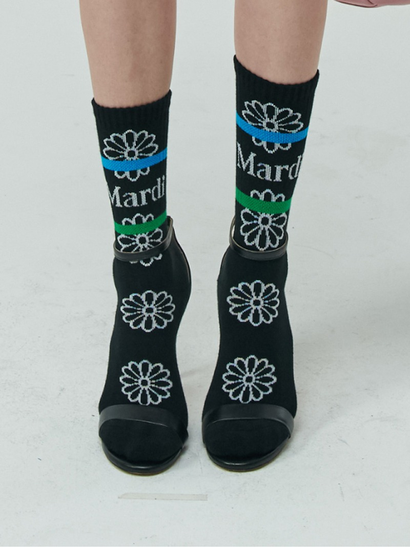 SOCKS FLOS EMOJI BLACK