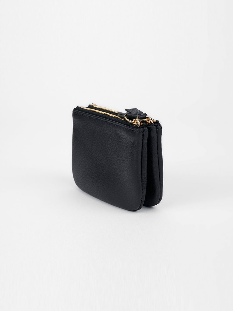 WALLET-DOUBLE-BLACK [LESAC]