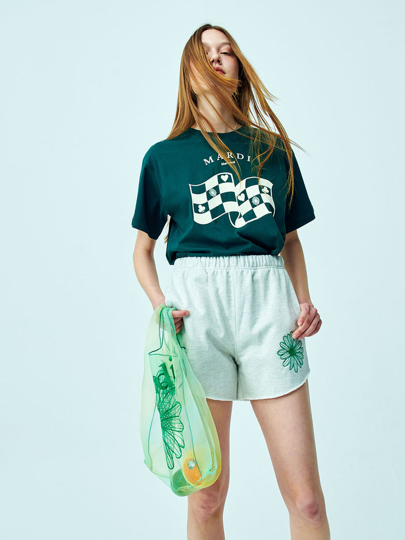 TSHIRT - CHECKER DEEP - GREEN [4/14 예약배송]