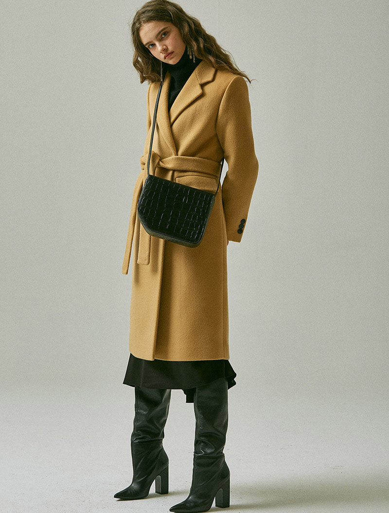 BASIC DOUBLE COAT CAMEL