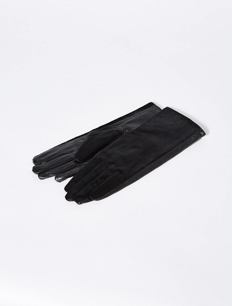 PONYHAIR GLOVES BLACK