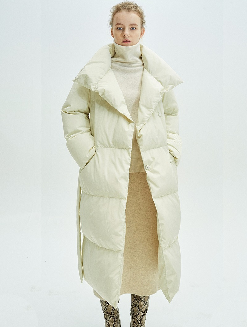 BELTED DOUBLE DOWN COAT IVORY
