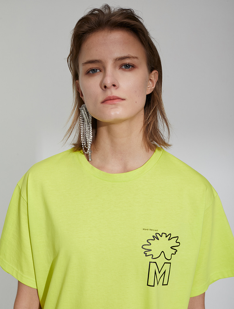 LOGO OVERSIZED TEE FLUO YELLOW