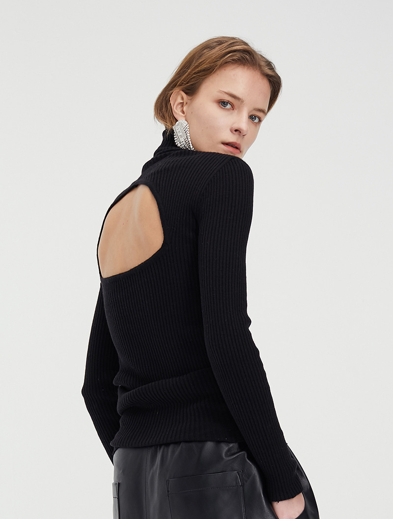 OPEN BACK KNIT BLACK
