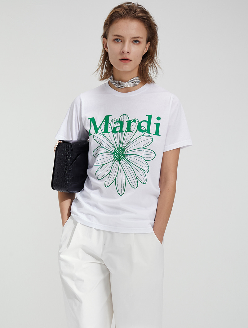 FLOWER BASIC TEE WHITE