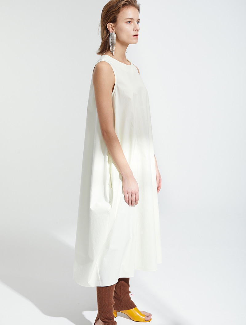 SLEEVELESS MAXI DRESS OFFWHITE