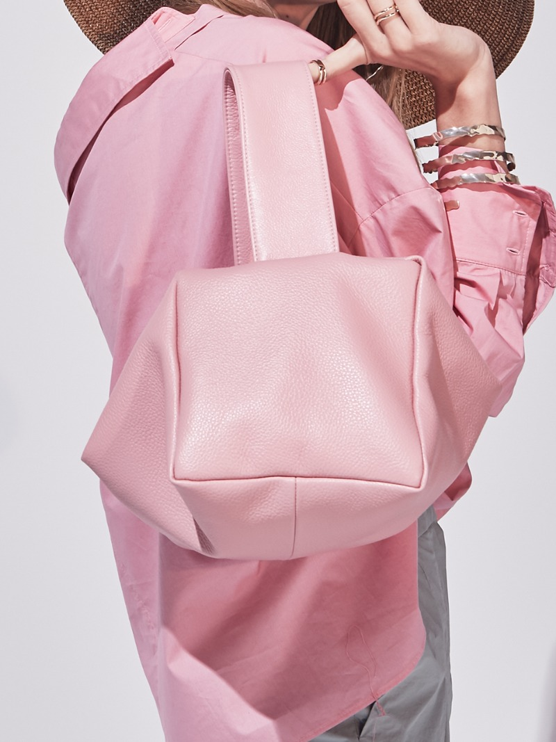 PETIT VALERIE COURRIER. PINK [LEATHER: CALFSKIN]
