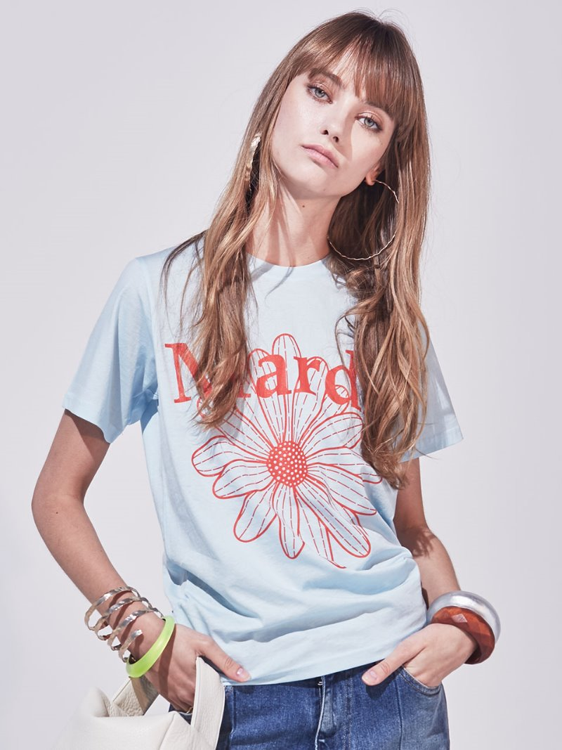 FLOWER BASIC TEE SKY BLUE