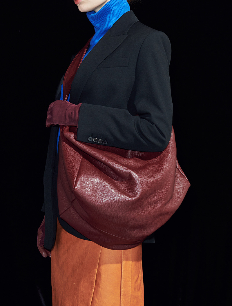VALERIE COURRIER BURGUNDY [ALL LEATHER]