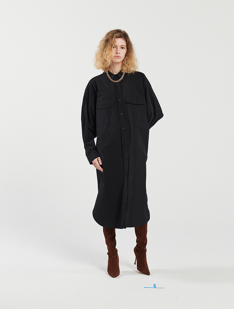 SHIRT DRESS BLACK