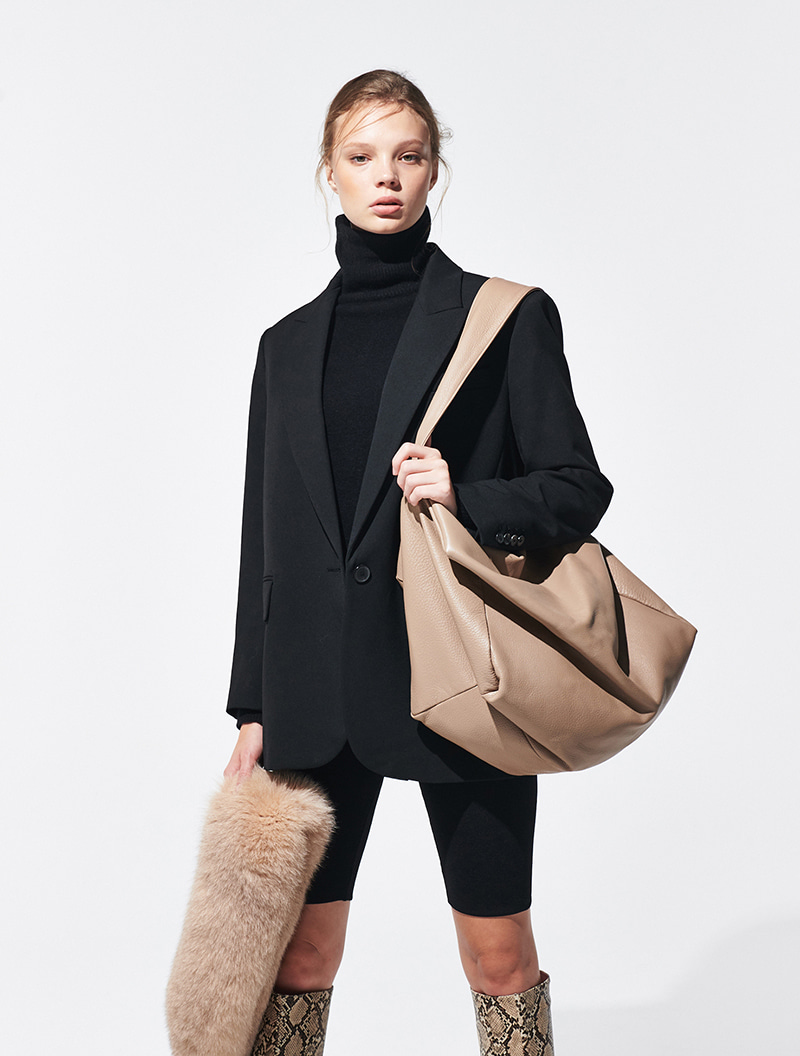 VALERIE COURRIER WARM GREY [ALL LEATHER]