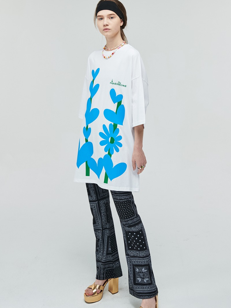 HEART TREE OVERSIZED TEE WHITE