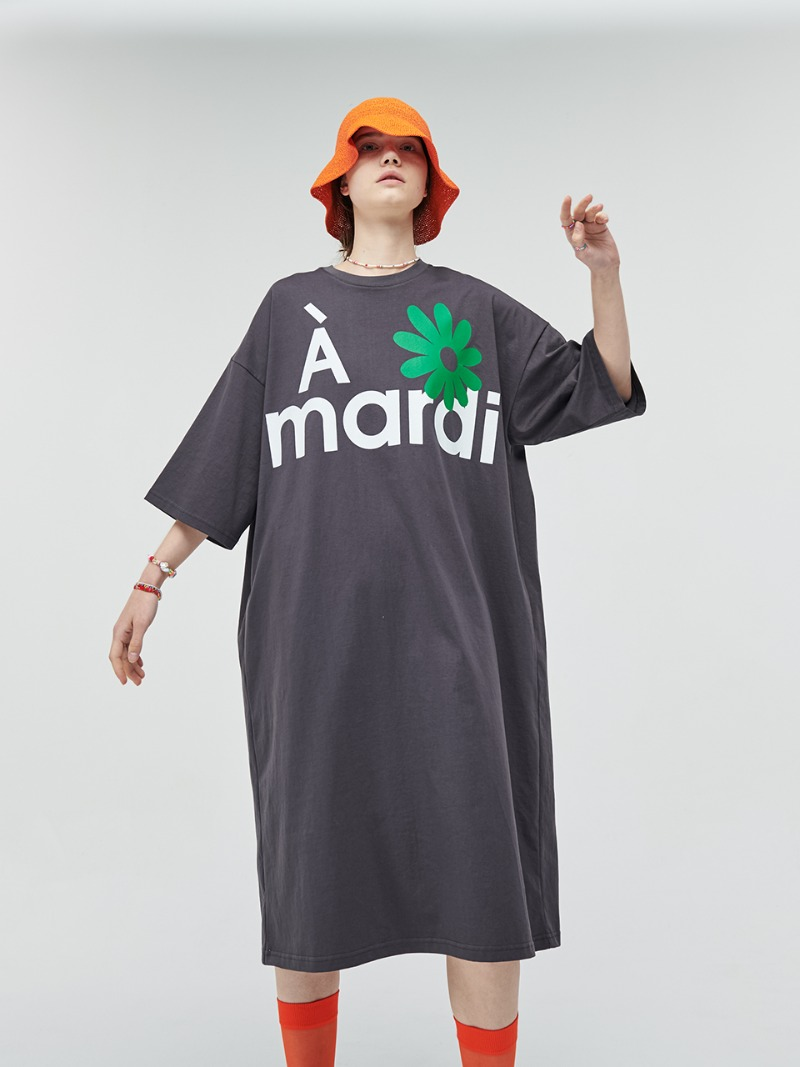 DRESS A MARDI CHARCOAL