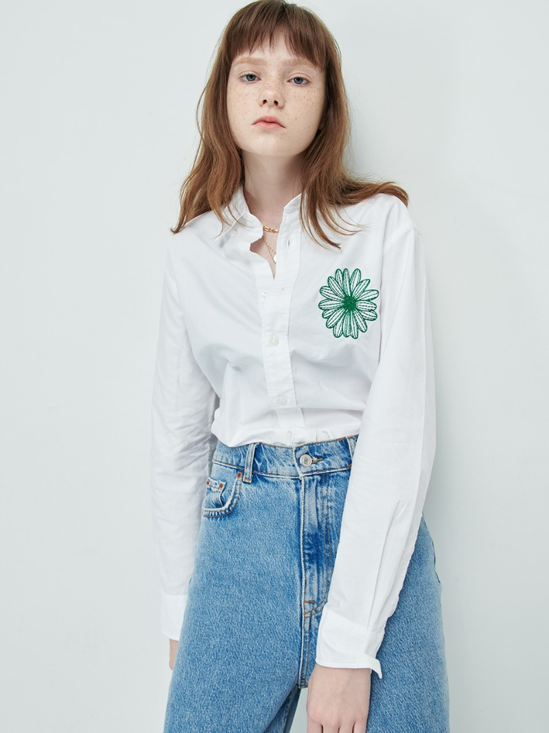 SHIRT - FLOWER MARDI - WHITE