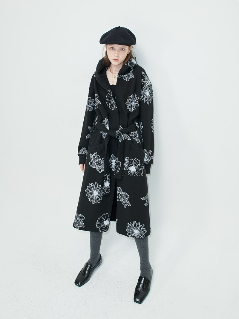 ROBE - FLOWER MARDI - BLACK