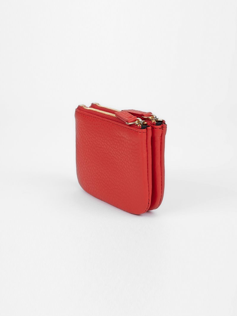 WALLET-DOUBLE-RED [LESAC]