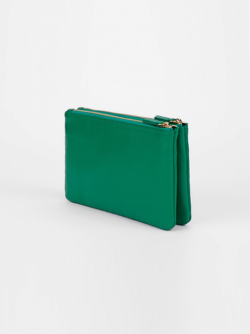 POUCH-DOUBLE-GREEN[LESAC]