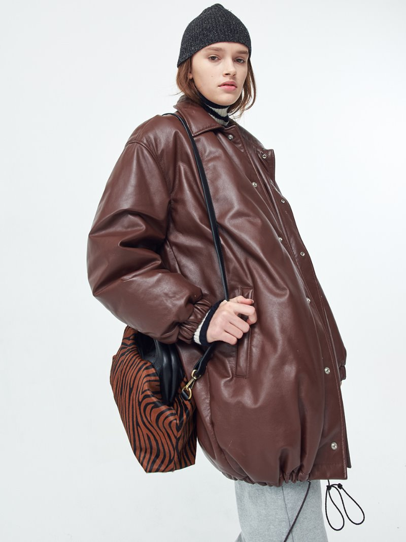 DOWN PARKA - OVERSIZED - BROWN